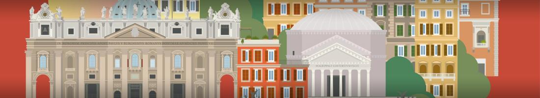 Affiche Voyage Rome bandeau